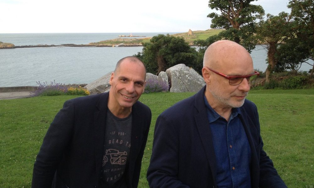 Brian Eno and Yanis Varoufakis