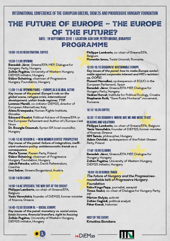 Budapest Conference Programm