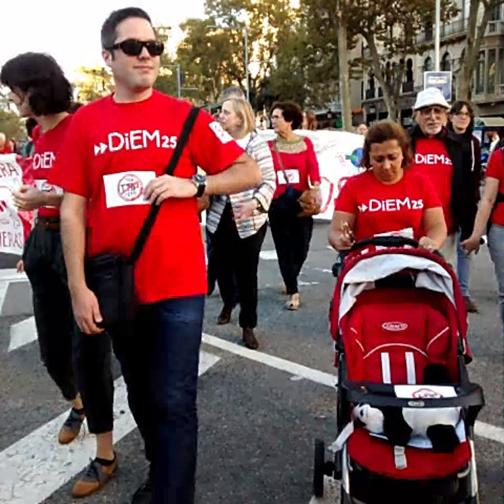 El DSC Barcelona en la manifestación antiTTIP.