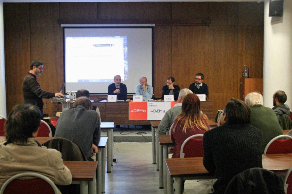 Debate sobre integración europea organizado por el DSC Bohemia Meridional con cooperación de la Academia Ecuménica.
