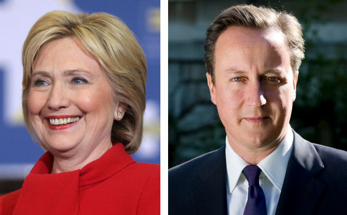 Hillary Clinton and David Cameron