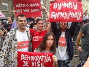 DSC Belgrade at Ne da(vi)mo Beograd protest