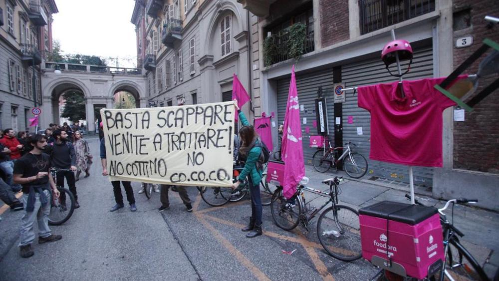 Foodora riders' protest