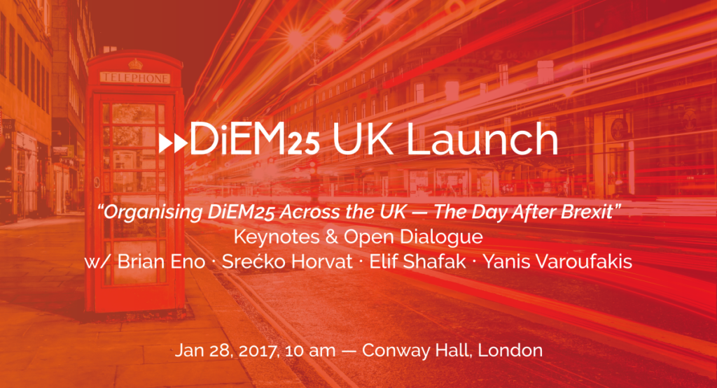 Join us on Saturday to launch DiEM25 in the UK!