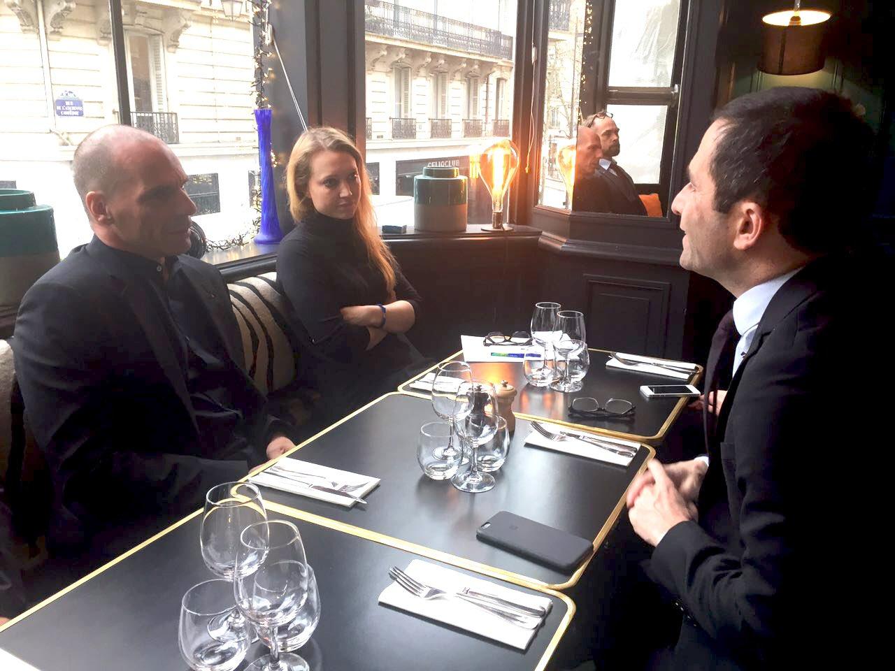 Benoît Hamon and Yanis Varoufakis