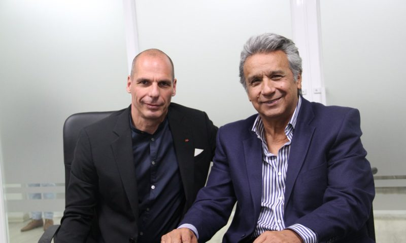 Mr. Varoufakis was received by the President-elect of the Republic, Mr. Lenin Moreno