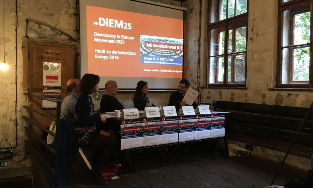 DiEM25 seminar in Prague