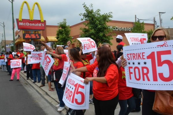 UK McDonald's workers strike for the first time for a living wage