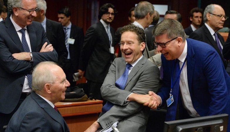 Jeroen Dijsselbloem and Wolfgang Schäuble