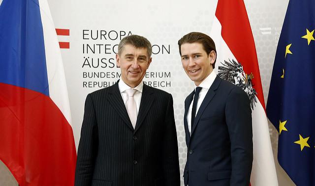 Bundesminister Sebastian Kurz trifft den tschechischen Vizepremier Andrej Babis. Wien, 13.02.2015, Foto: Dragan Tatic
