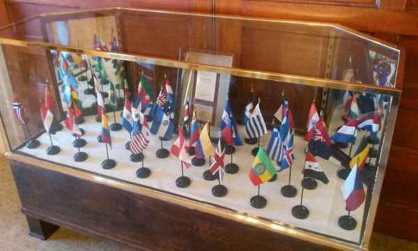 Bretton Woods Conference Participating Nations Flag Display