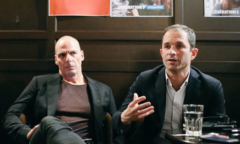 Yanis Varoufakis and Benoit Hamon