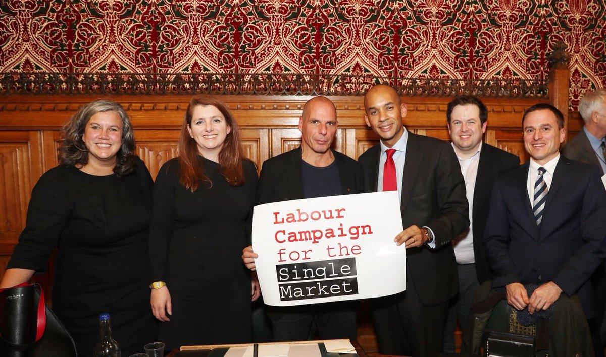 Yanis Varoufakis with Labour MPs
