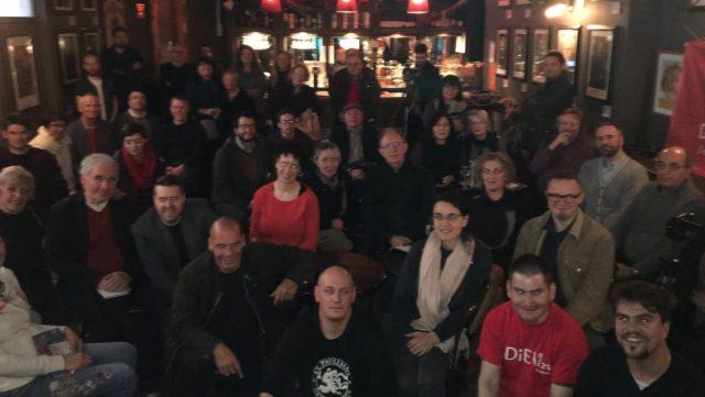 Yanis with DiEMers in Belfast