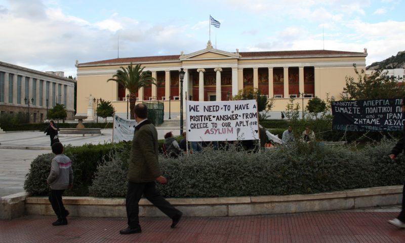 Athens Protest_before_the_University_Photo_by_Giovanni_DallOrto_Nov_11_2009