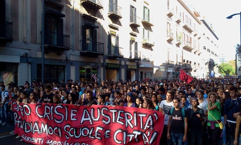 Student Protest in Palermo