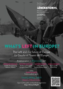 What's Left in Europe on May 8th @ Westminster Palace | England | United Kingdom