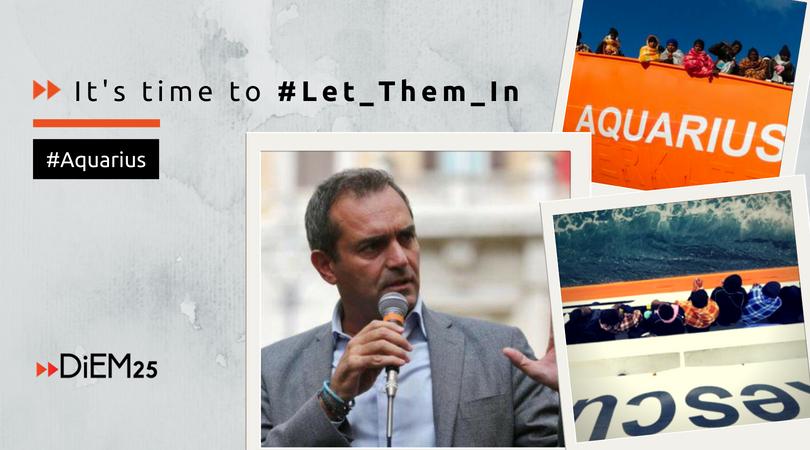 Το DiEM25 στηρίζει την απόφαση του Λουΐτζι Ντε Ματζίστρις και άλλων γενναίων Ιταλών δημάρχων να μη κλείσουν τα λιμάνια