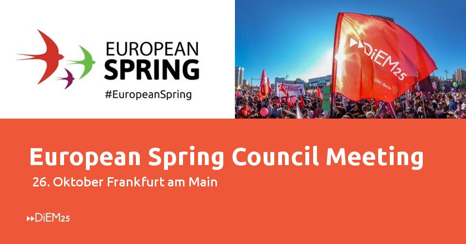 The European Spring is arriving in Frankfurt on October 26!