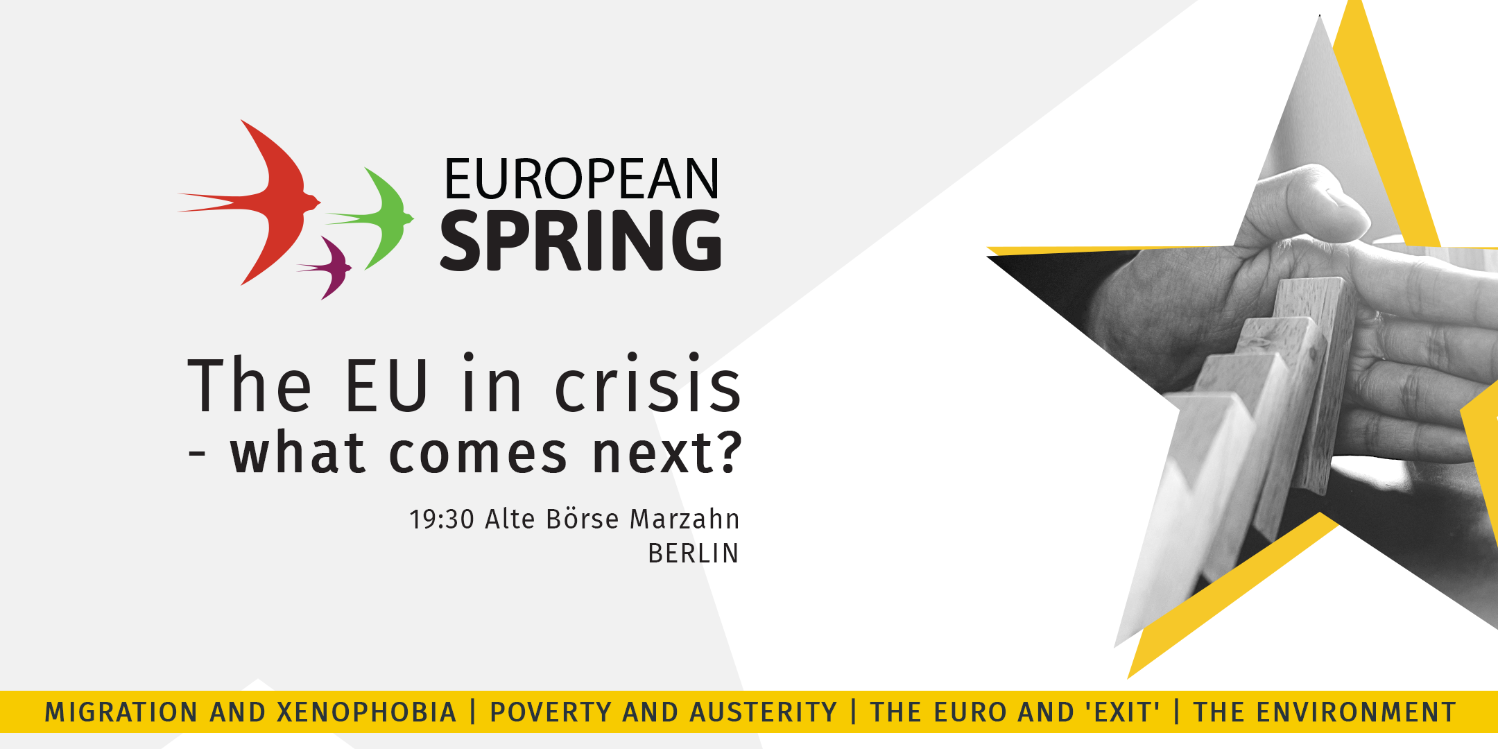 Austerity, Xenophobia, Euro and Environment – DiEM25 and European Spring event, Berlin 24/1/2019