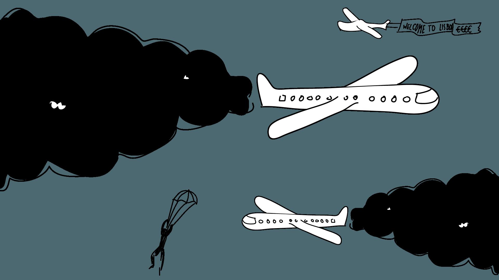 Aumento do tráfego aéreo NÃO! Economia pós-carbónica SIM!