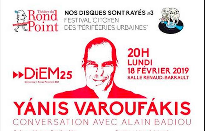 Yanis Varoufakis et Alain Badiou en débat à Paris