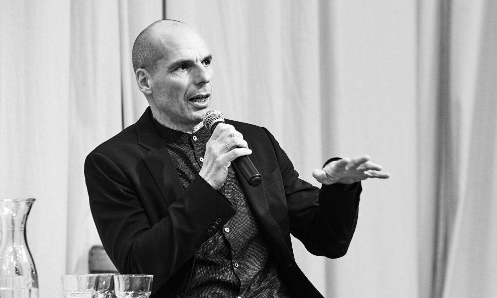 Yanis Varoufakis lors de la réunion publique du Printemps européen à Berlin, le 25/1/2109. ©Pidjyphotography