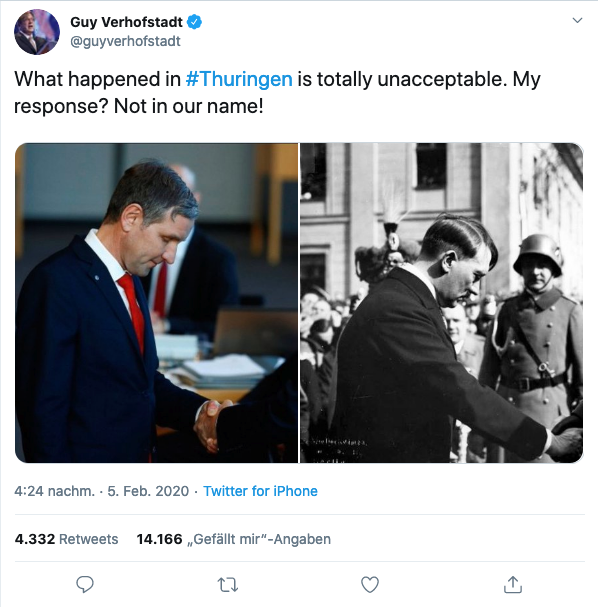 Guy Verhofstadt tweet