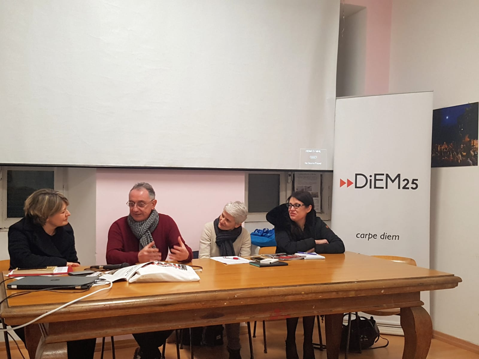 Celebrating DiEM25's fourth anniversary in Rome